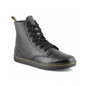 Dr Martens Leyton Ankle Booties Soft Leather Blk 6